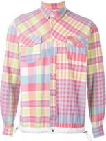Sacai elastic waistband checked shirt - men - Cotton/Polyester - 2