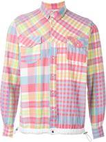Sacai elastic waistband checked shirt