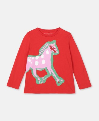 Stella Mccartney Kids Stella McCartney horse cotton t-shirt