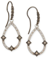 Armenta New World Midnight Open Pear Drop Earrings with Diamonds