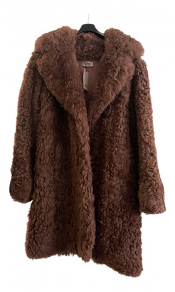 Meteo Brown Shearling Coat for Women
