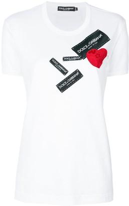 Dolce & Gabbana heart logo patch T-shirt