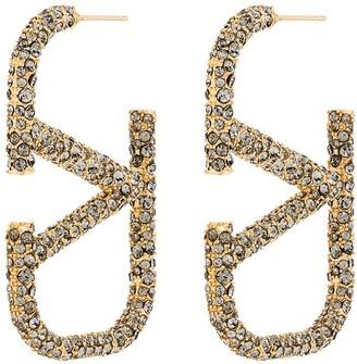 Valentino VLOGO crystal-embellished earrings