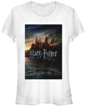 Fifth Sun Harry Potter Hogwarts Deathly Hallows Poster Women's Short Sleeve T-Shirt