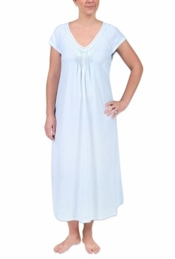 Miss Elaine Plus Size Long Printed Knit Nightgown