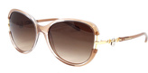 Tiffany & Co. Brown Transparent & Brown Gradient Oversize Sunglasses