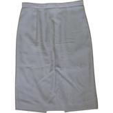 Saint Laurent Purple Wool Skirt