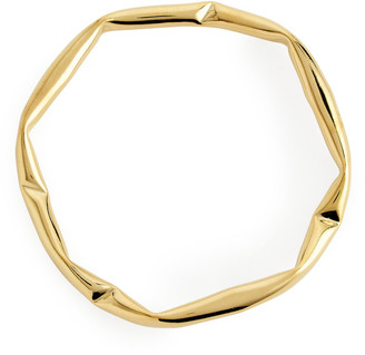 Arket Crunched Gold-Plated Bangle