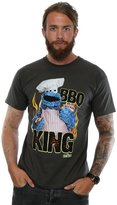 Sesame Street Men's Cookie Monster BBQ King T-Shirt