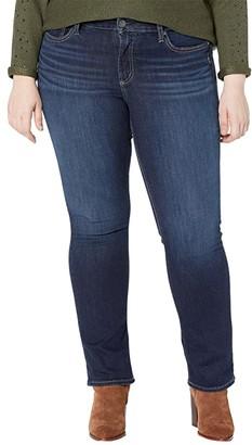 Silver Jeans Co. Plus Size Suki Mid-Rise Curvy Fit Straight Leg Jeans W93413EPX407 (Indigo) Women's Jeans