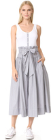 Rebecca Taylor Sleeveless Pop Dress With Rib