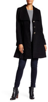 Jessica Simpson Fit & Flare Wool Blend Coat