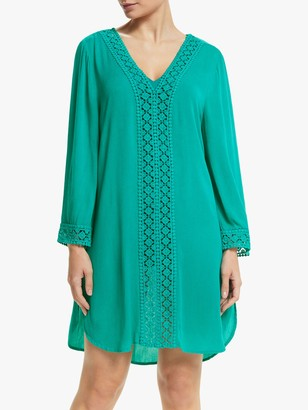 John Lewis & Partners Diamond Lace Guipure Kaftan, New Orleans Green