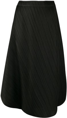 Pleats Please Issey Miyake Pleated Wrap Style Skirt