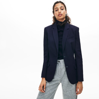 Lacoste Women's Fitted Stretch Cotton Blazer