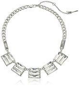 """Kenneth Cole New York Sparkled Baguette"""" Crystal Baguette Stone Geometric Necklace,17"""" + 2"""" extender"""