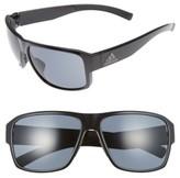 adidas Women's Jaysor 60Mm Sunglasses - Shiny Black/ Grey