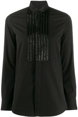 Saint Laurent Beaded Pintuck Shirt