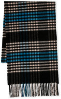 Johnstons Plaid Cashmere Scarf