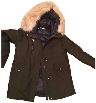 MANGO Khaki Faux fur Coat for Women
