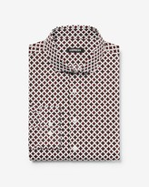 Express Slim Printed Cotton Dress Shirt