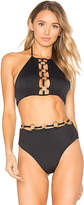 For Love & Lemons Mallorca Ring Halter Top in Black. - size S (also in XS)