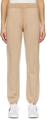 John Elliott Tan Cashmere Two-Tone Lounge Pants