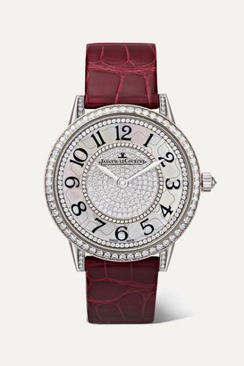 Jaeger-LeCoultre Jaeger Lecoultre Rendez-vous Night & Day Ivy 34mm 18-karat White Gold, Alligator And Diamond Watch