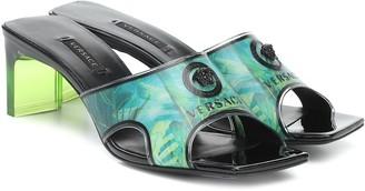 Versace Jungle-print PVC sandals