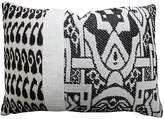 Kim Salmela Ikat 14x20 Cotton-Blended Pillow - Black