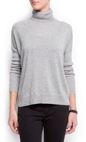 MANGO Ribbed sleeves sweater
