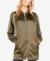 Vince Camuto TWO By Ribbed Taffeta Long Bomber Jacket