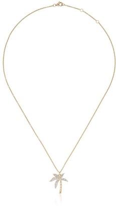 Yvonne Léon 18K yellow gold and diamond palm tree necklace
