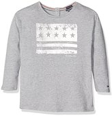 Tommy Hilfiger Girl's Ame Flag CN Knit L/S Long Sleeve Top