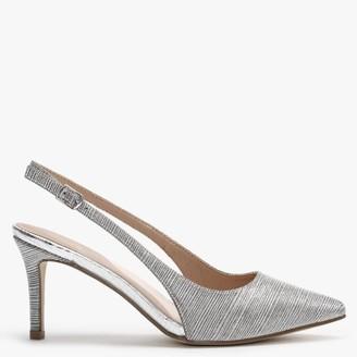 Menbur Pasquali Silver Metallic Sling Back Court Shoes