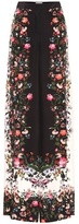 Erdem Birte silk printed wide-leg trousers