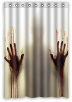 """Innovation Creepy Terrible Bloody Hands Shower Curtain Mildew Waterproof Polyester Fabric Bathroom Shower Curtain Size 48"""" x 72"""" Inch"""