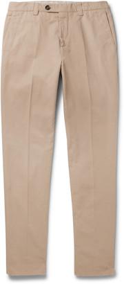 Brunello Cucinelli Slim-Fit Cotton-Gabardine Trousers