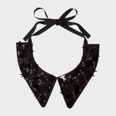 Paul Smith Women's Black Silk Star Embellished Collar