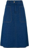 A.P.C. flared denim skirt - women - Cotton - 36