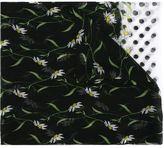 Dolce & Gabbana daisy and polka dot print scarf