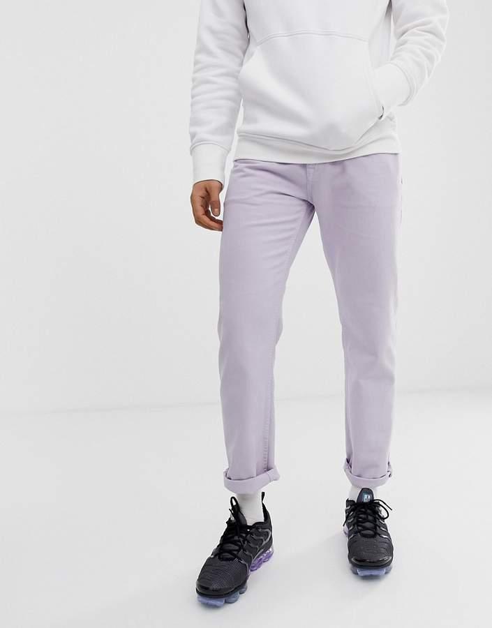Asos Design DESIGN original fit jeans in lilac