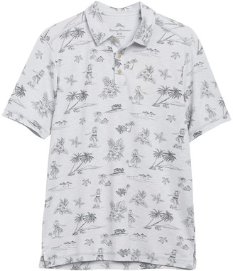 Tommy Bahama Hula Hut Tropical Print Polo