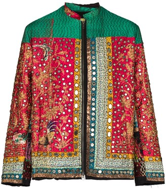 By Walid Sequined Silk Jacket