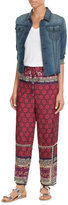 Anna Sui Silk-Cotton Woodblock Mixed Print Pants