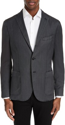 Boglioli Travel K Slim Fit Wool Blazer