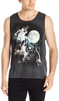 The Mountain Three Wolf Moon Tank Top