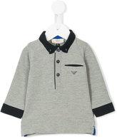 Armani Junior logo print polo shirt - kids - Cotton/Spandex/Elastane - 6 mth