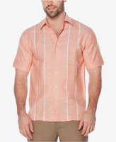 Cubavera Men's Yarn-Dyed Embroidered Stripe Panel Shirt
