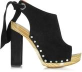 Proenza Schouler Black Suede Platform Sandal